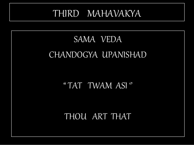 TAT ASMI PRABHO - CONSTITUTIVE AND REGULATIVE PRINCIPLES OF EXISTENCE. THIS UPANISHADIC APHORISM OR MAHAVAKYA SPEAKS OF IDENTITY OR CONSTITUTIVE PRINCIPLE. MAN, OR SELF DOES NOT RULE, GOVERN, OR OPERATE GOD'S EXISTENCE. BETWEEN MAN(SELF) AND GOD, WHO IS THE CONTROLLER?