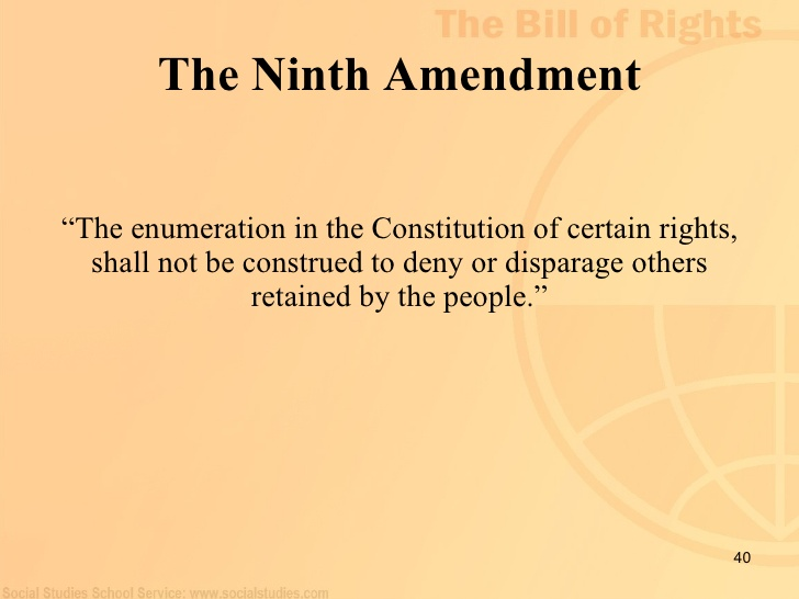 Thanksgiving 9th Amendment Bill Of Rights