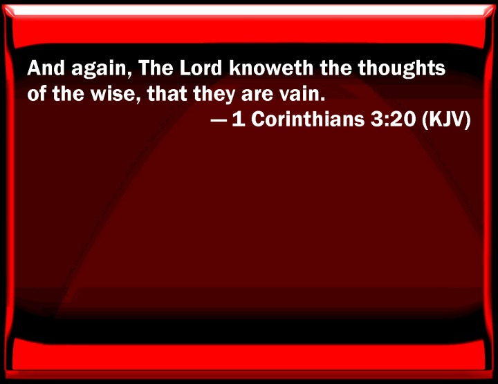NEW YEAR GREETINGS - WISDOM TO GUIDE IN 2016. I SEEK WISDOM FROM 1 CORINTHIANS, CHAPTER 3, VERSE 20.