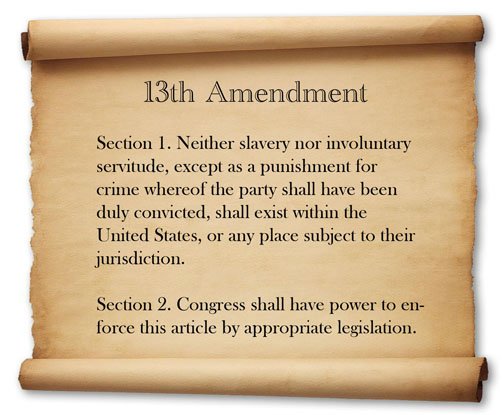 US CONGRESS SLAVE DRIVER - THE 150th ANNIVERSARY OF THE 13th AMENDMENT. THE AMENDED SOCIAL SECURITY ACT FUNDAMENTALLY VIOLATES PRINCIPLES SHARED BY 43 WORDS OF THE 13th AMENDMENT.