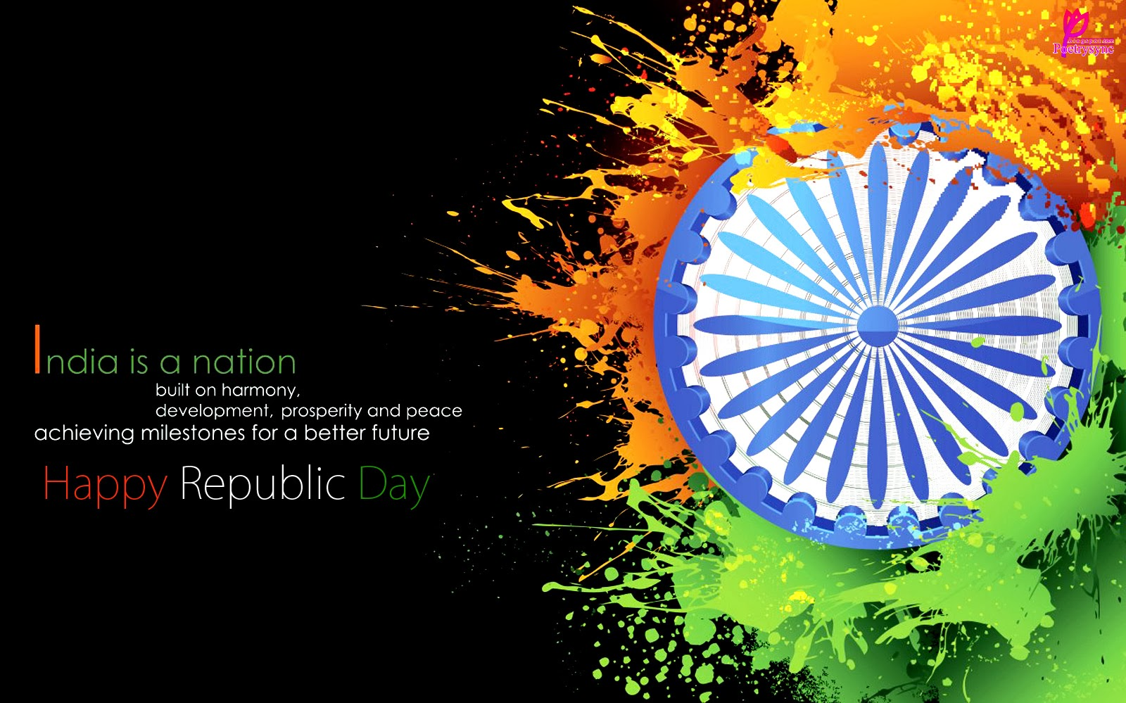 Bharat Darshan - 67th Republic Day Greetings - Blessings of Peace and Prosperity.