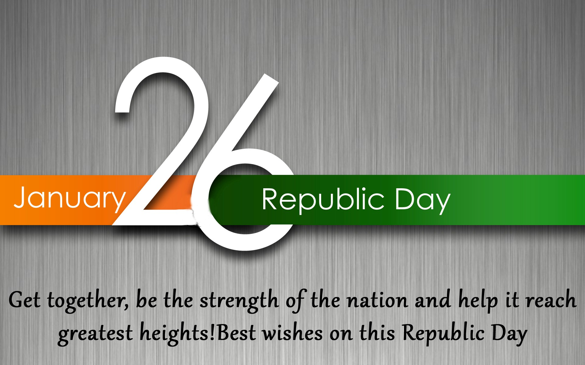 BHARAT DARSHAN - 67th REPUBLIC DAY GREETINGS - PRAYER FOR STRENGTH THROUGH UNITY.