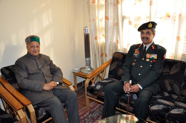 DEFENCE INTELLIGENCE AGENCY - KNOW YOUR ENEMY. LIEUTENANT GENERAL ANIL K BHALLA WAS APPOINTED AS DIRECTOR GENERAL, DEFENCE INTELLIGENCE AGENCY ON JANUARY 02, 2014. HE IS SEEN WITH CHIEF MINISTER OF HIMACHAL PRADESH IN PHOTO IMAGE OF JANUARY 08, 2013.