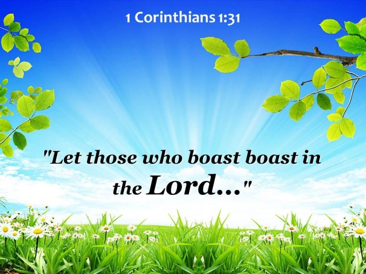 NEW YEAR GREETINGS - WISDOM TO GUIDE IN 2016. I SEEK WISDOM FROM 1 CORINTHIANS, CHAPTER 1, VERSE 31.