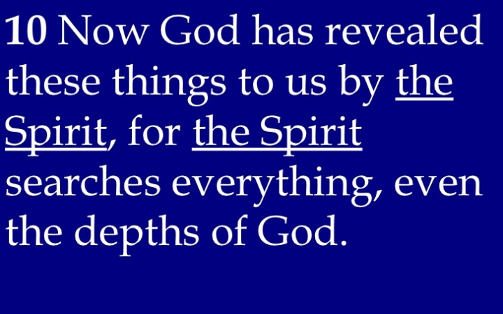 WISDOM FROM THE SPIRIT. NEW YEAR GREETINGS - WISDOM TO GUIDE IN 2016. I SEEK WISDOM FROM 1 CORINTHIANS, CHAPTER 2, VERSE 10.