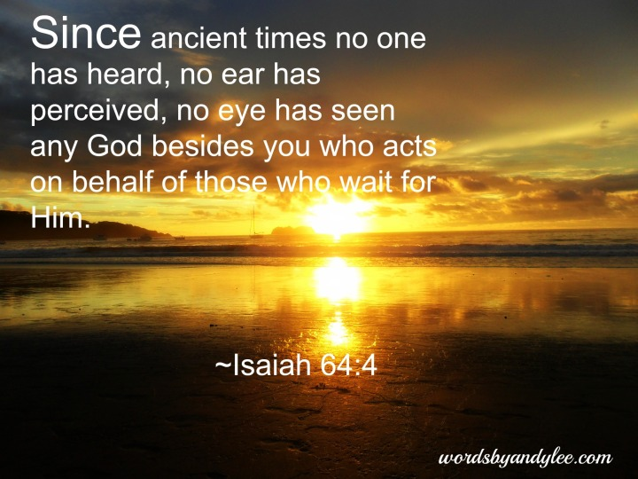WISDOM FROM THE SPIRIT. NEW YEAR GREETINGS - WISDOM TO GUIDE IN 2016. I SEEK WISDOM FROM 1 CORINTHIANS, CHAPTER 2, VERSE 9 WHICH REFERS TO ISAIAH, CHAPTER 64, VERSE 4.