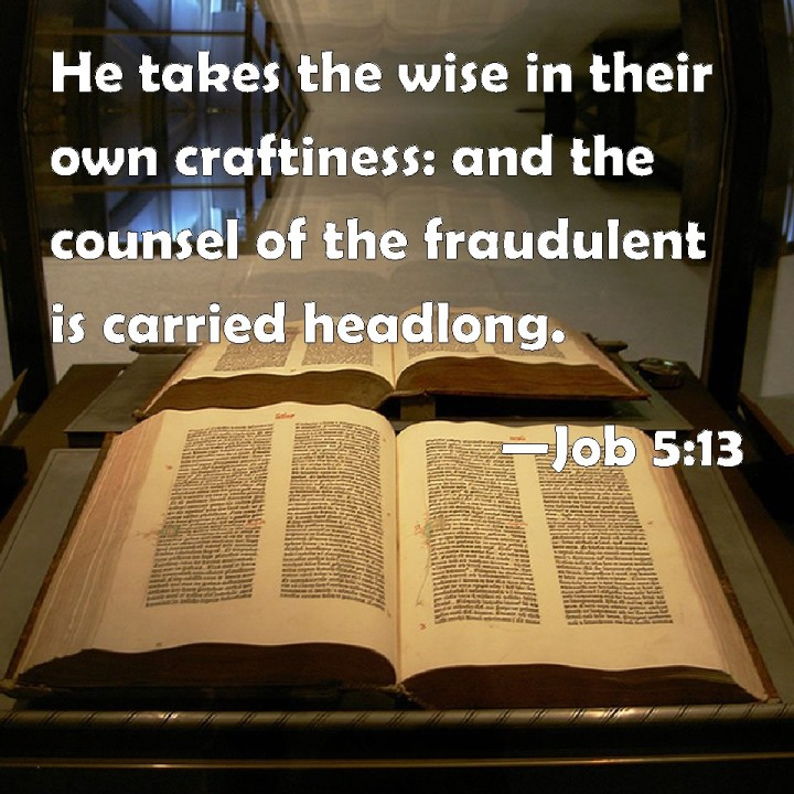 WISDOM FROM THE SPIRIT. NEW YEAR GREETINGS - WISDOM TO GUIDE IN 2016. I SEEK WISDOM FROM 1 CORINTHIANS, CHAPTER 3, VERSE 19 WHICH REFERS TO BOOK OF JOB 5:13.