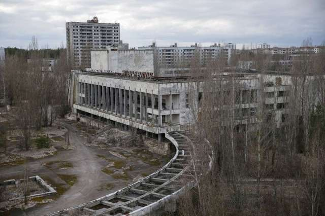 World Remembers 30th Anniversary of Chernobyl Disaster. View of abandoned City of Pripyat, Ukraine.