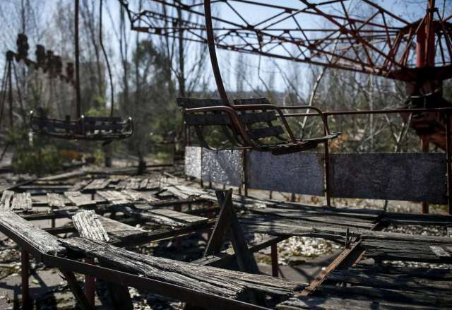 World Remembers 30th Anniversary of Chernobyl Disaster. Abandoned Amusement Park in City of Pripyat, Ukraine.