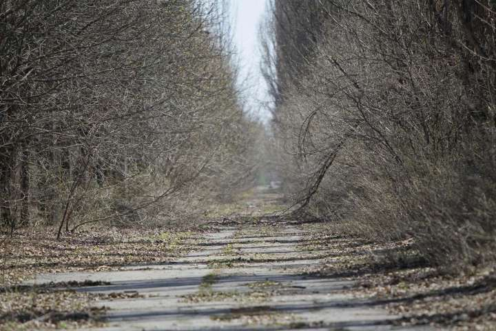 World Remembers 30th Anniversary of Chernobyl Disaster. A view of ghost City of Pripyat, Ukraine which was abandoned.