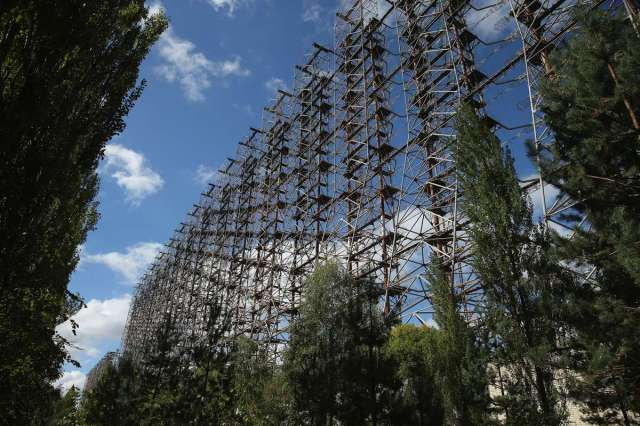World Remembers 30th Anniversary of Chernobyl Disaster. Abandoned Soviet Cold War Era Radar 'The Woodpecker'.