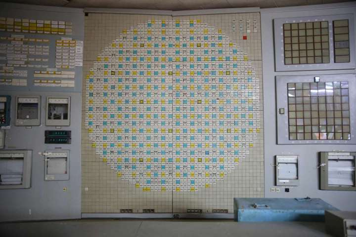 World Remembers 30th Anniversary of Chernobyl Disaster. Photo image of Control Room in Nuclear Reactor 2. Decommissioning of remaining reactors slowly proceeding over several decades.