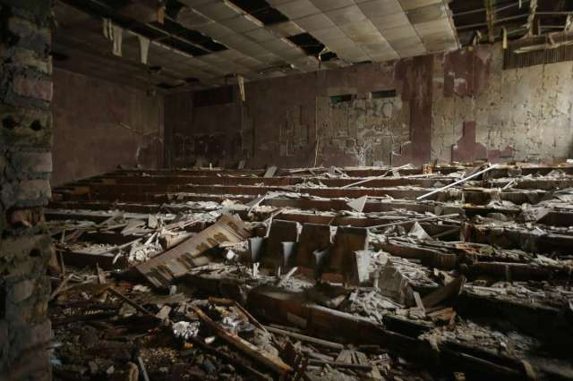 World Remembers 30th Anniversary of Chernobyl Disaster. View of auditorium of Energetika Cultural Center, Pripyat, Ukraine.