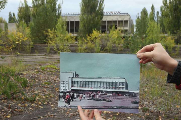 World Remembers 30th Anniversary of Chernobyl Disaster. Main Square in abandoned City of Pripyat, Ukraine.