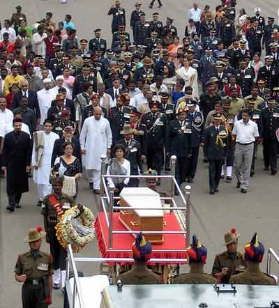 Bharat Darshan - Remembering Sam Bahadur, Field Marshal Manekshaw, Final Journey on June 27, 2008.