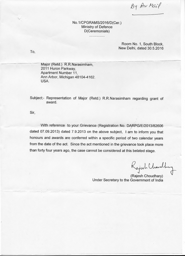 Operation Eagle - Petition to Government of India.