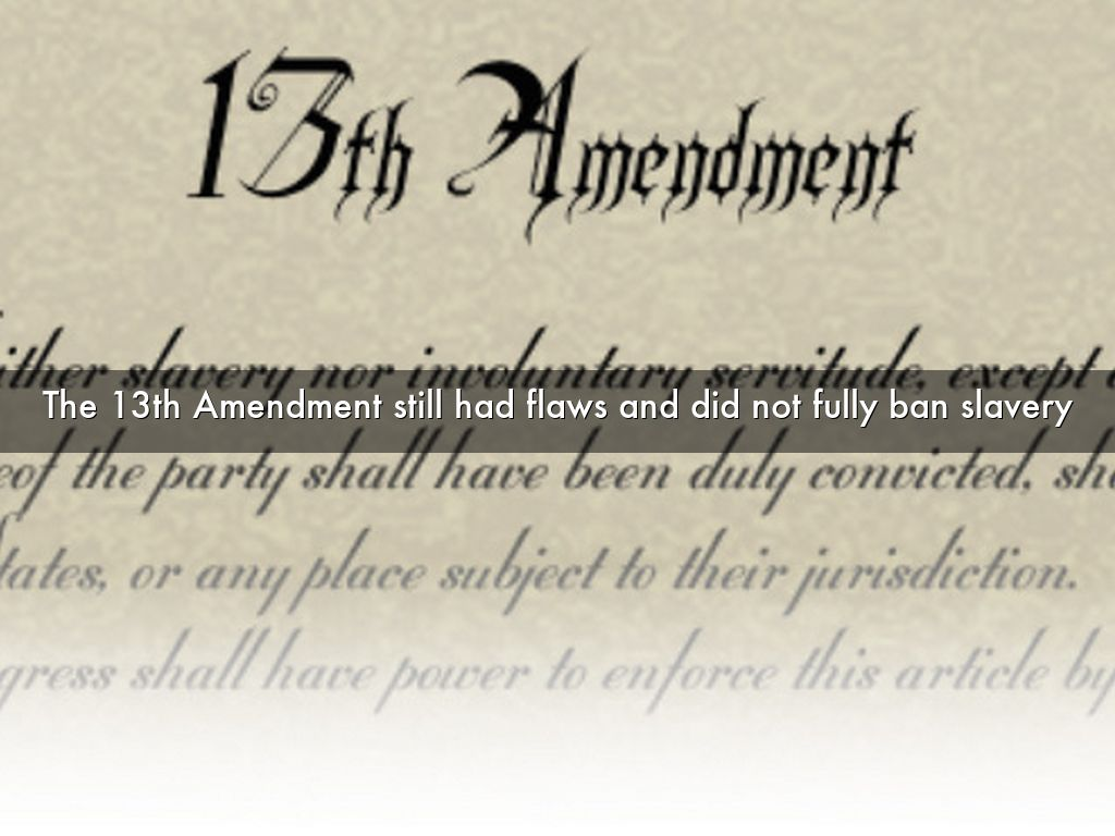 13th Amendment Definition Examples And Forms