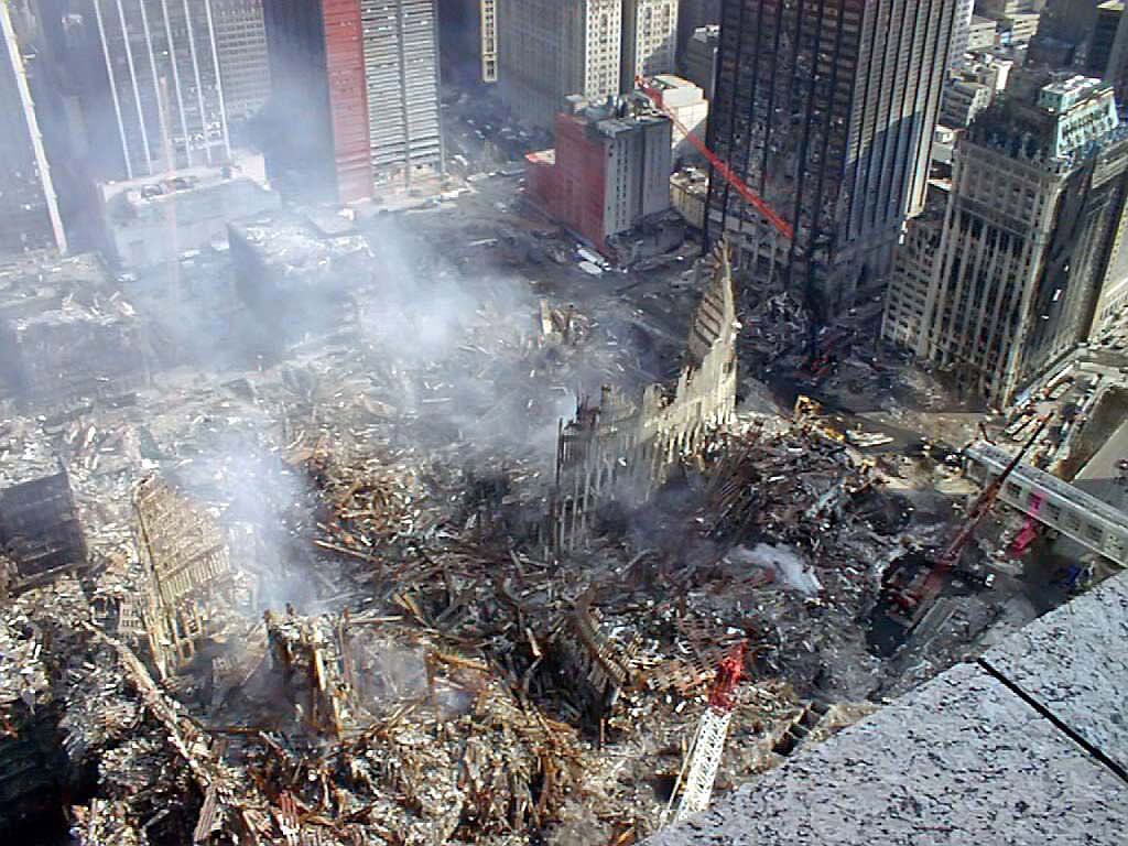 Remembering September 11, 2001. Can Terror Define Man? Ground Zero, New York City.