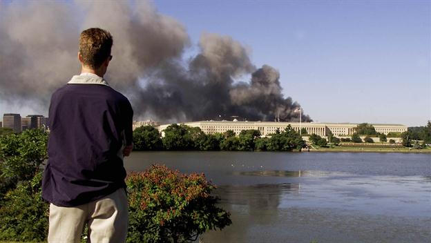 Remembering September 11, 2001. Can Terror Define Man? Scene from Washington DC