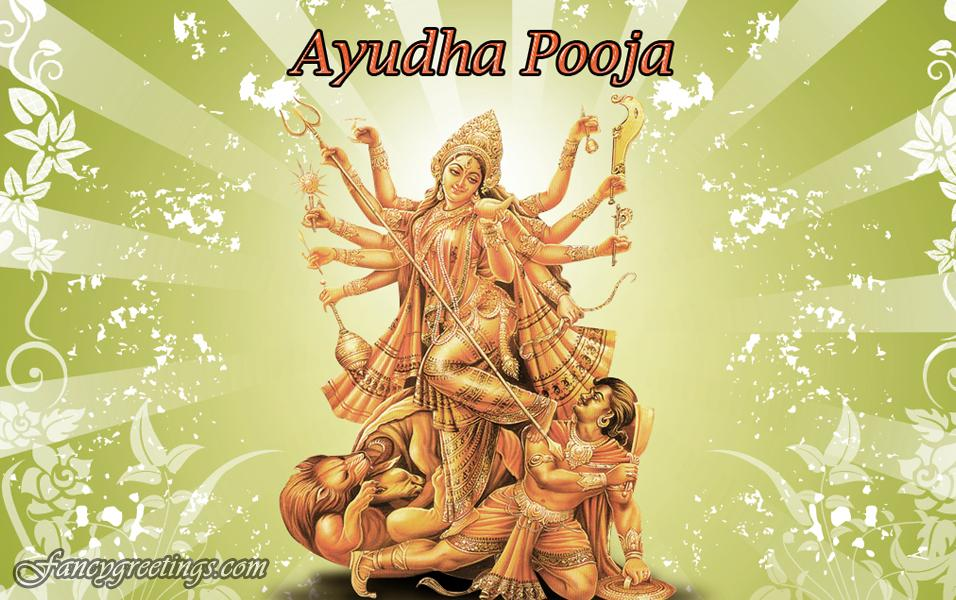 DEVI NAVRATRI, NINE-NIGHT CELEBRATION, DAY - 9, MAHA NAVAMI, AYUDHA PUJA, WORSHIP OF ALL WEAPONS, TOOLS, EQUIPMENT USED BY MAN TO ACCOMPLISH ACTION.
