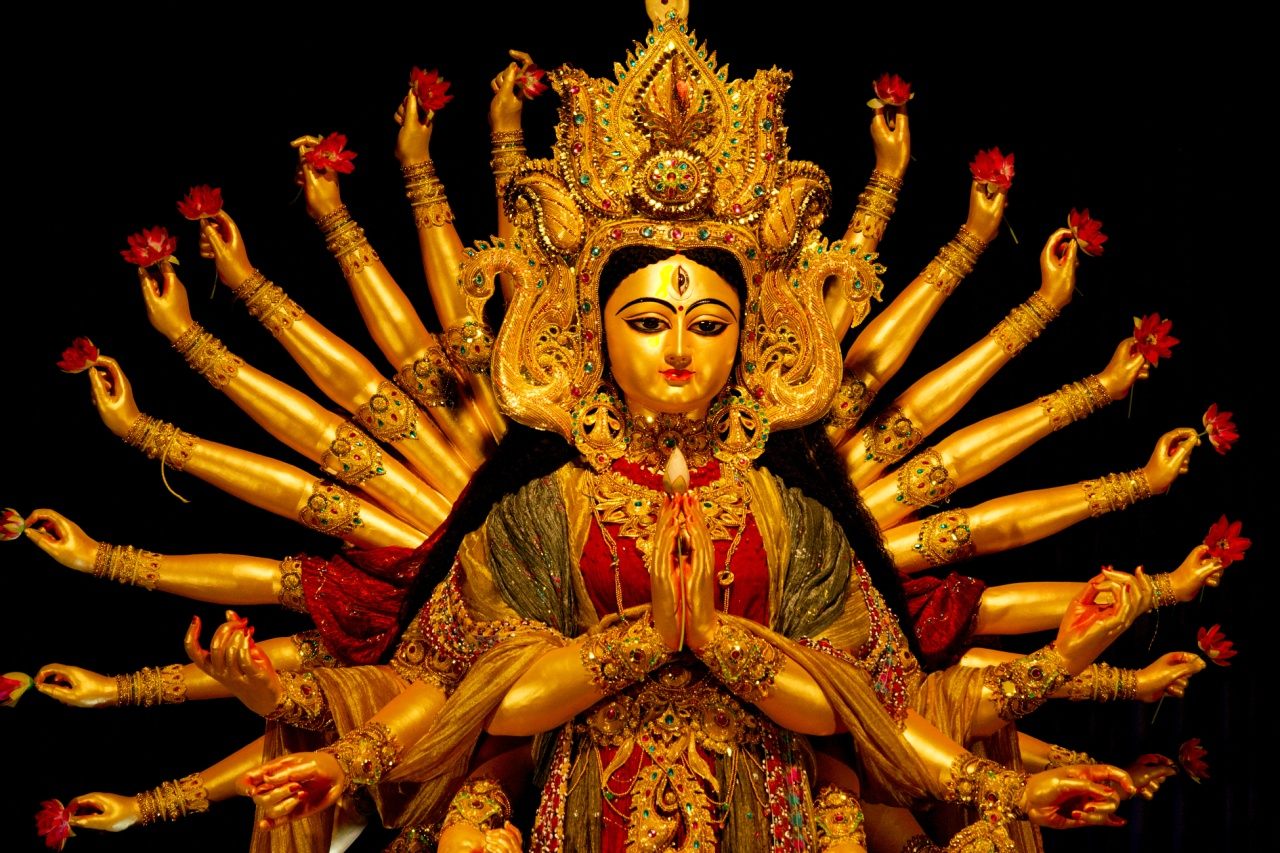 DEVI NAVRATRI - NINE-NIGHT WORSHIP OF DIVINE POWER, LOVE, GRACE, AND COMPASSION TO ACCOMPLISH VICTORY OF GOOD OVER EVIL FORCES. 10th DAY, DASAMI IS KNOWN AS VIJAYA DASAMI OR DUSSEHRA.