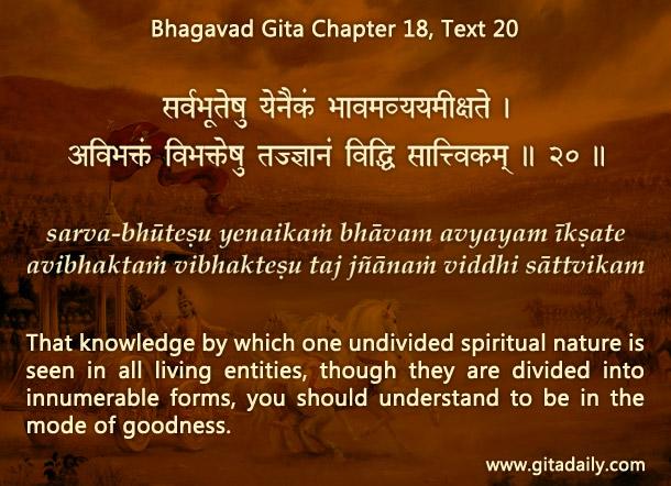 bhagavad gita chapter 18 text 20