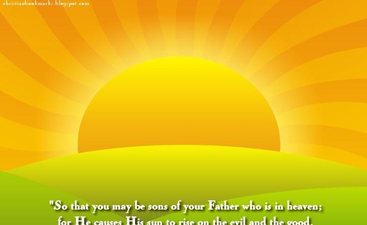 Mathew 5:45 | Christian Bookmarks