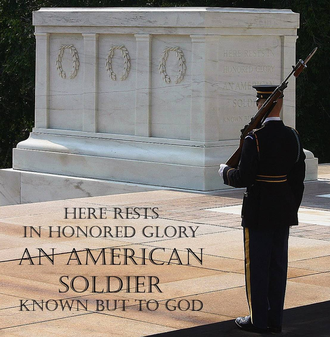 Monday, May 25, 2020. Memorial Day. The Unknown Soldier of America Pays Tribute to the Unmourned Soldiers of Special Frontier Force.
